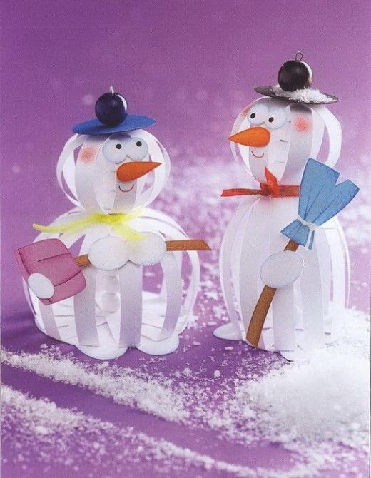 3D Christmas Snowmen Craft DIY Project