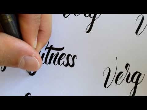 Watch Matt Vergotis do some lettering;  set to music, no commentary
