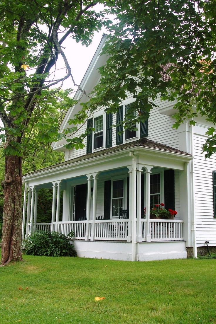 Non White Farmhouse Exterior