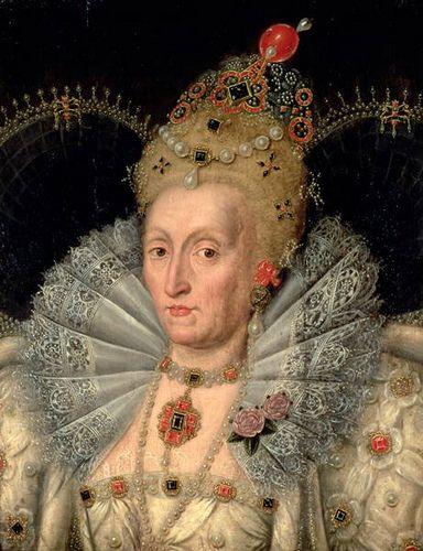 Elizabeth I in extreme old age, circa 1600