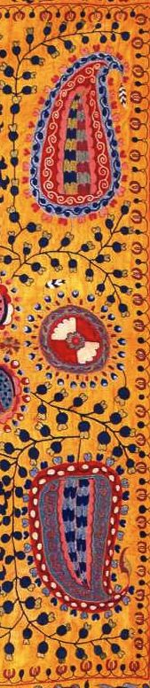 Suzani embroidery.  Love the colors.  Painting inspiration.