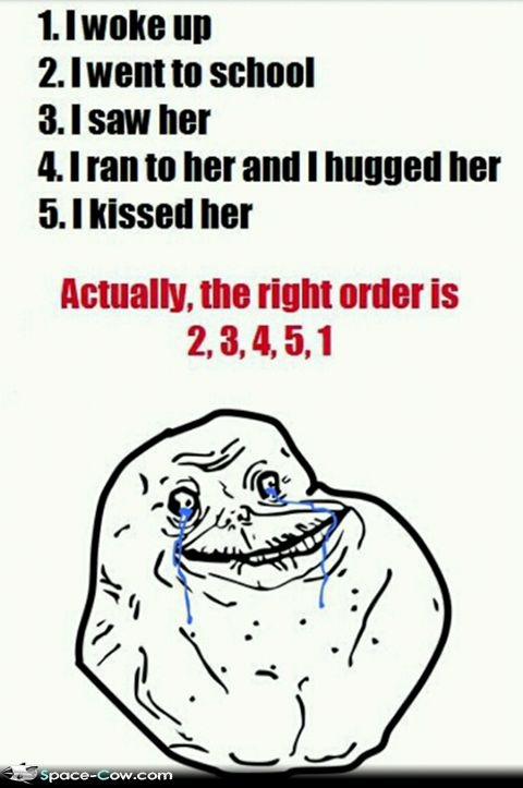 Funny FOREVER ALONE meme comics picture