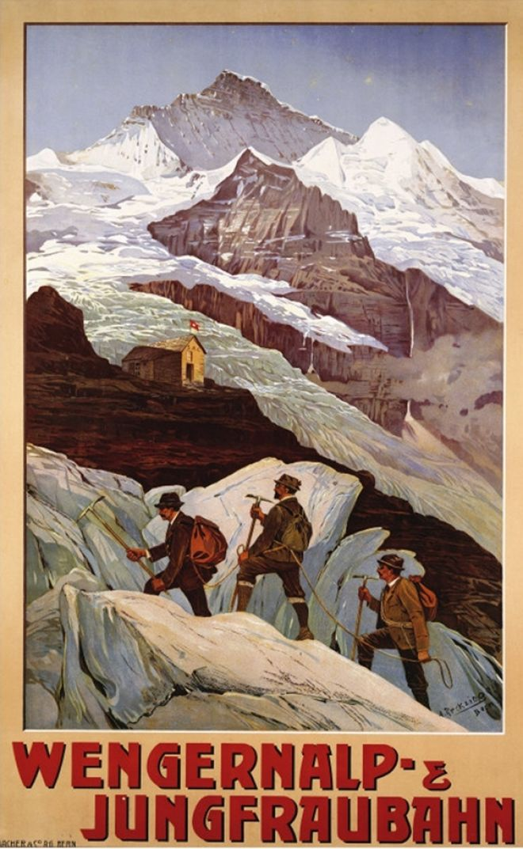 Wengernalp & Jungfraubahn (1900) travel poster