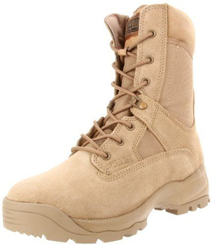 """5.11 ATAC 8 Inches Boot 5.11. $56.99. Width: W. Leather and fabric. This shoes / sandals / boots style name or model number is A.T.A.C. Coyote. Material: Regular Suede Upper and Man-Made Outsole. Color: Natural. Measurements: 2"""" heel. Manmade sole"""