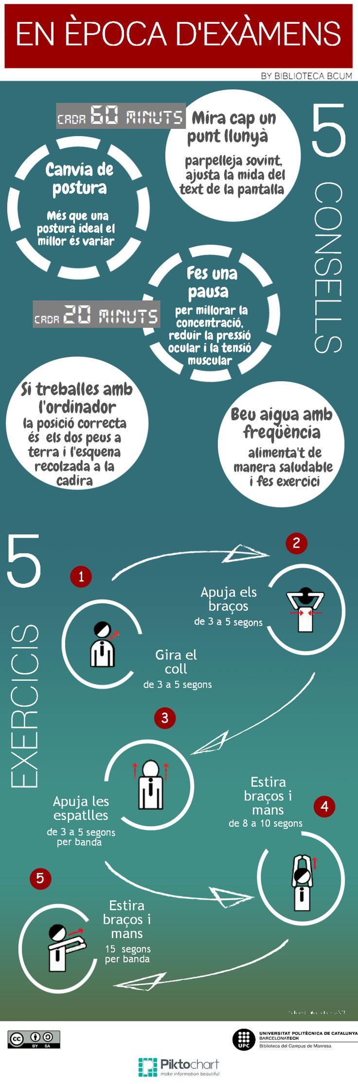 5 Consells i 5 exercicis per aguantar millor els exàmens...