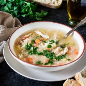 Brazilian Chicken and Rice Soup