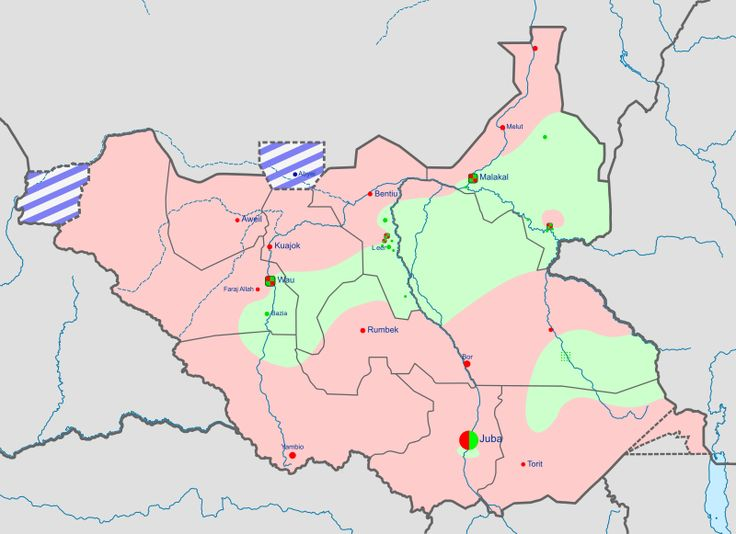 Military situation in South Sudan as of 21 February 2016