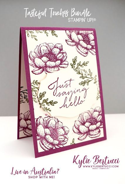 Pin By Juleen Henderson On Stampin Up Tasteful Touches Birthday Card Craft Simple Cards Greeting Card Inspiration