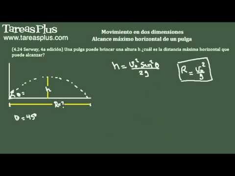 Movimiento en dos dimensiones – alcance máximo de una pulga