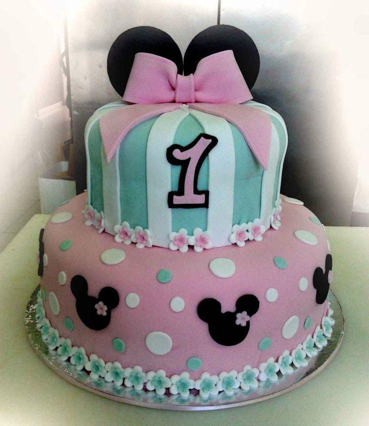 Minnie #compleanno. Torte Artistiche per qualsiasi evento della pasticceria La Mimosa di http://www.simocakedesigner.it