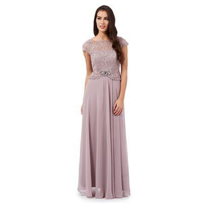 No. 1 Jenny Packham Light purple Selena jewel embellished maxi dress-   Debenhams