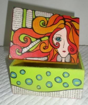 17 images about cajas madera on pinterest nicoletta - Cajas de madera pintadas a mano ...