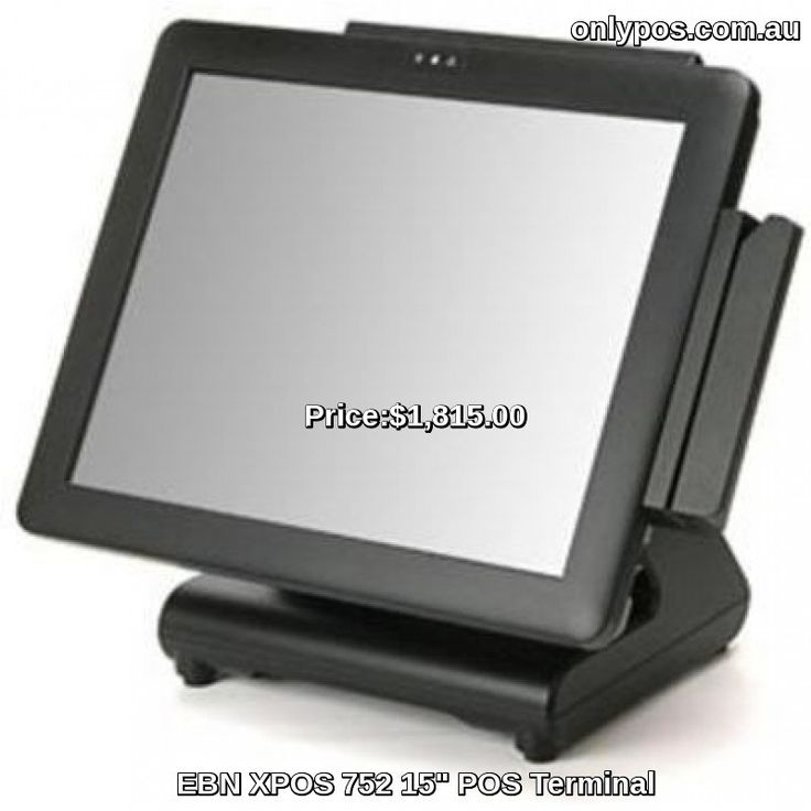 "EBN XPOS 752 15"" POS Terminal with Atom N270 1GB. Note MSR shown is not included."
