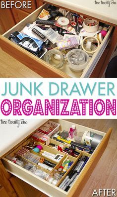 Great tips on how to organize your junk drawer!