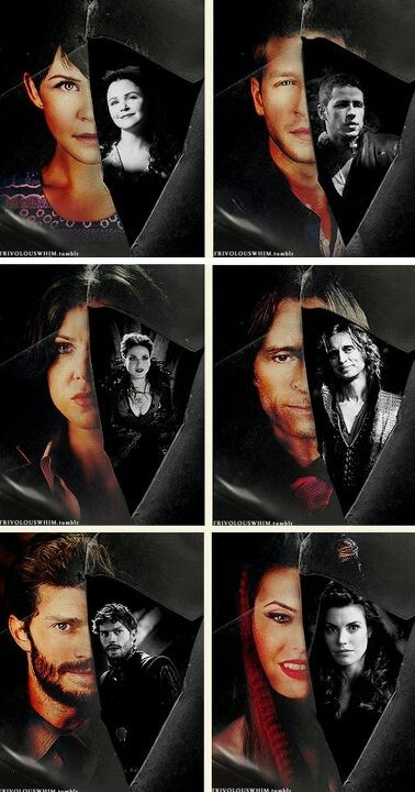 Once upon a Time - Mary Margaret/Snow White, David/Prince Charming, Regina/Evil Queen, Mr. Gold/Rumplestiltskin, Graham/The Huntsman, Ruby/Red