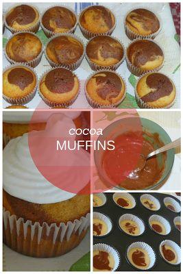 Delicious homemade easy cocoa muffins recipe