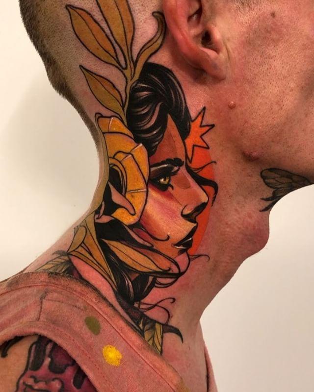 WEBSTA @danielsbauti tattoo for the tattoo artist @tattoosbyben , thank you, it has been a pleasure to meet you !!!