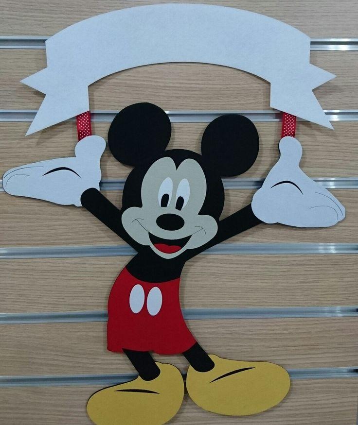 Keçeden Mickey kapı süslerimiz gelmiştir