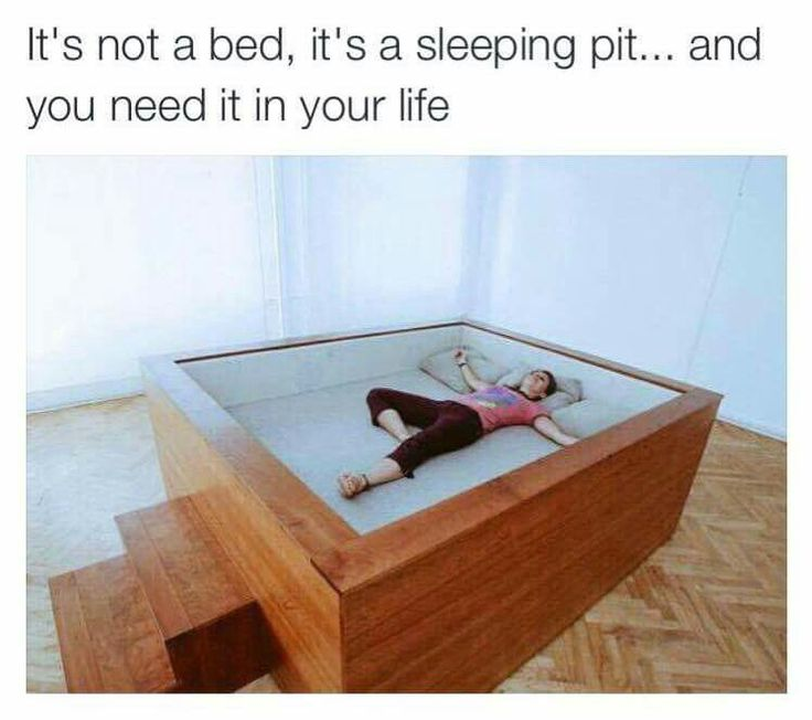 It's not a bed it's s sleeping......you need one of these in your life. :)