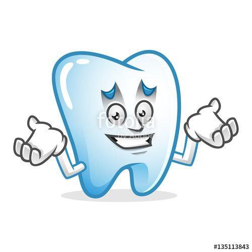 """Download the royalty-free vector """"Confused tooth mascot, tooth character, tooth cartoon vector """" designed by IronVector at the lowest price on Fotolia.com. Browse our cheap image bank online to find the perfect stock vector for your marketing projects!"""