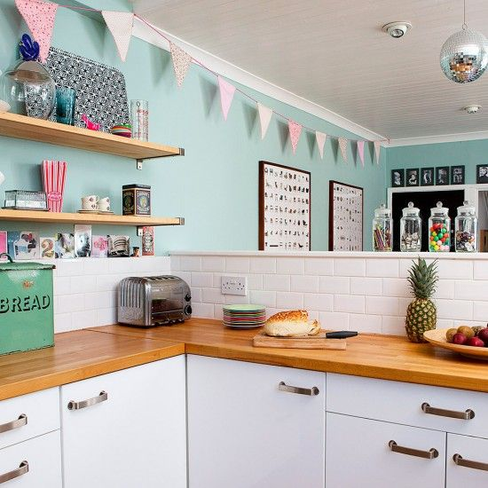 Vintage style kitchen area | Modern home in Tyne & Wear | House tour | PHOTO GALLERY | Ideal Home | Housetohome.co.uk