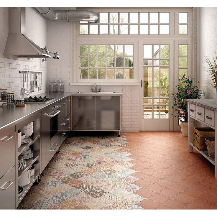 Patchwork tiles feat terracota tiles arent they look perfect rumahkukitchen