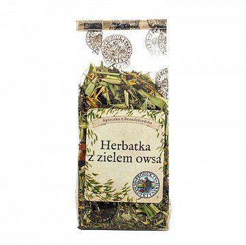 Herbata owsiana z czerwoną porzeczką - Produkty Benedyktyńskie    Herbata owsiana z czerwoną porzeczką została wzbogacona o liście mięty, owoce jarzębiny oraz owoce czerwonej porzeczki.    Owies dzięki zawartości wapna magnezu, po...