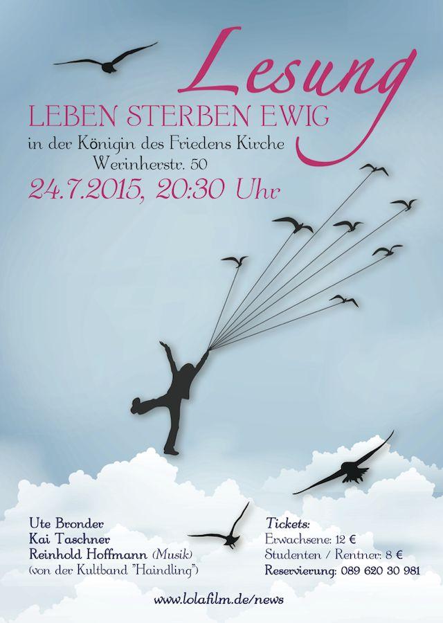 Die Lesung LEBEN STERBEN EWIG findet im Rahmen der Filmproduktion SCHWARZE MILCH (Regie: Robert Sigl) statt.   Mit einer Eintrittskarte zur Lesung unterstützt Du das Filmteam.