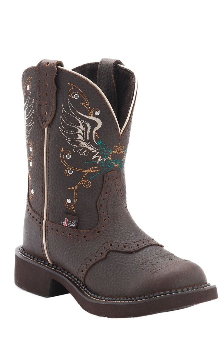Justin® Ladies Gypsy Collection™ Copper Kettle Brown Round Toe Cowboy Fashion Boots