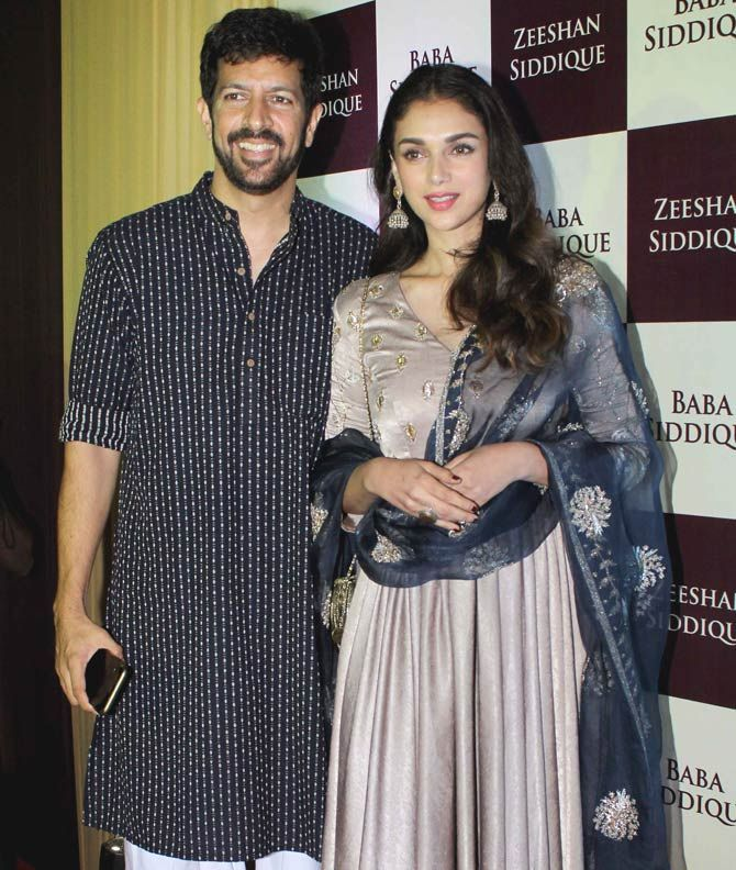 Kabir Khan and Aditi Rao Hydari at Baba Siddique's iftar party. #Bollywood #Fashion #Style #Beauty #Hot #Ethnic #Desi