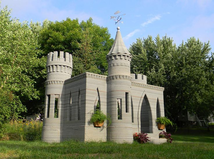 3d-printed-concrete-castle - everyone needs one for their back yard