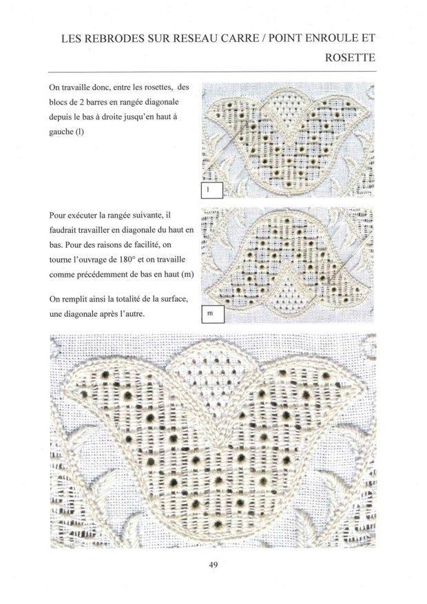 E-book Les bases de la broderie de Schwalm. - Instructions, illustrations in French.