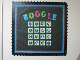 On Pinterest Boggle Board Bulletin Boards And 4th Grade Spelling