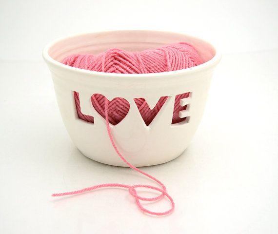 Love yarn bowl. How cute!
