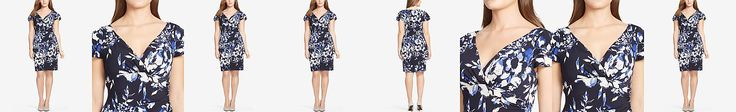 Lauren Ralph Lauren Plus Size Floral-Print Surplice Dress