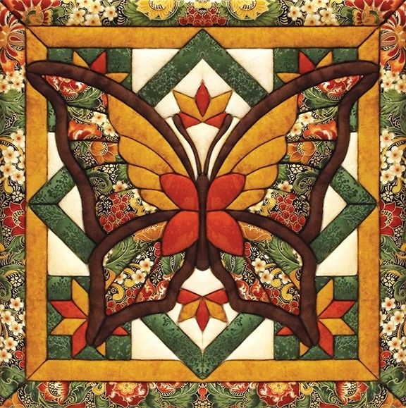 Make this fall butterfly quilt magic kit without having to sew or glue.