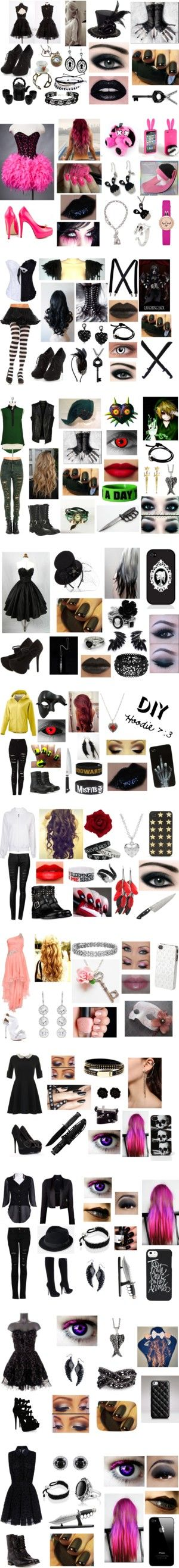 """""""~ Creepypasta Outfits ~"""" by neko-of-the-night ❤ liked on Polyvore"""