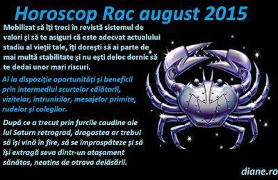 diane.ro: Horoscop Rac august 2015