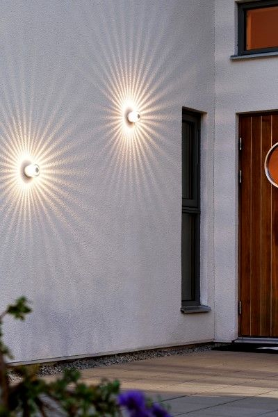 KONSTSMIDE Monza Medium LED-Wandstrahler 3 Watt Warmweiß Aluminium