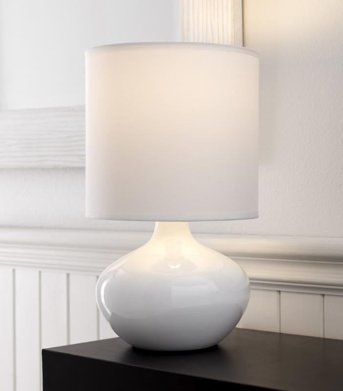 Serena Table Lamp, White 32 cm