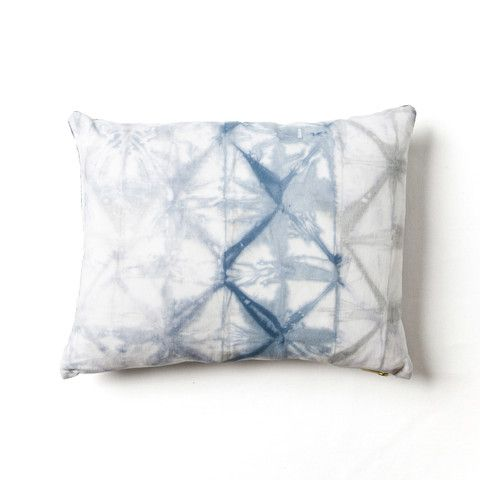Lattice Shibori pillow by Rebecca Atwood