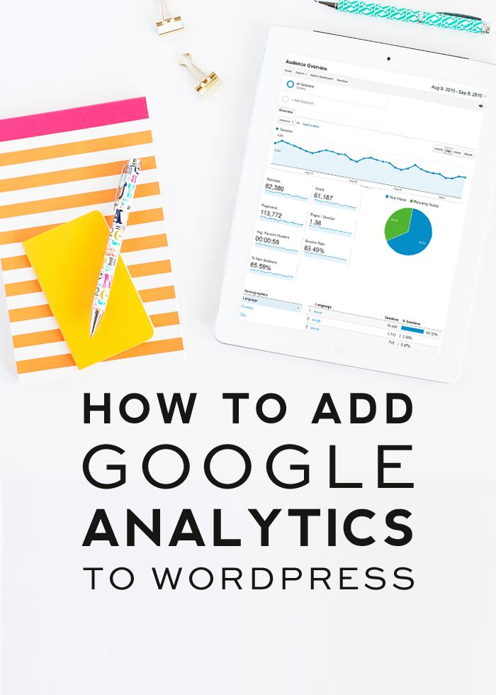 How to Add Google Analytics to WordPress // If you have a blog, installing Google Analytics is a must. This video tutorial show you how to install the Google analytics tracking code on your WordPress website with a plugin. Click to watch.