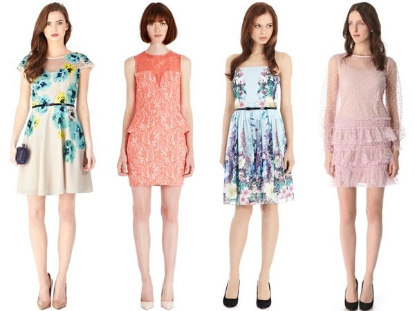 Outfits in pastel shades along with subtle prints and fabrics are best to wear at an Informal or Casual Morning Spring Wedding party