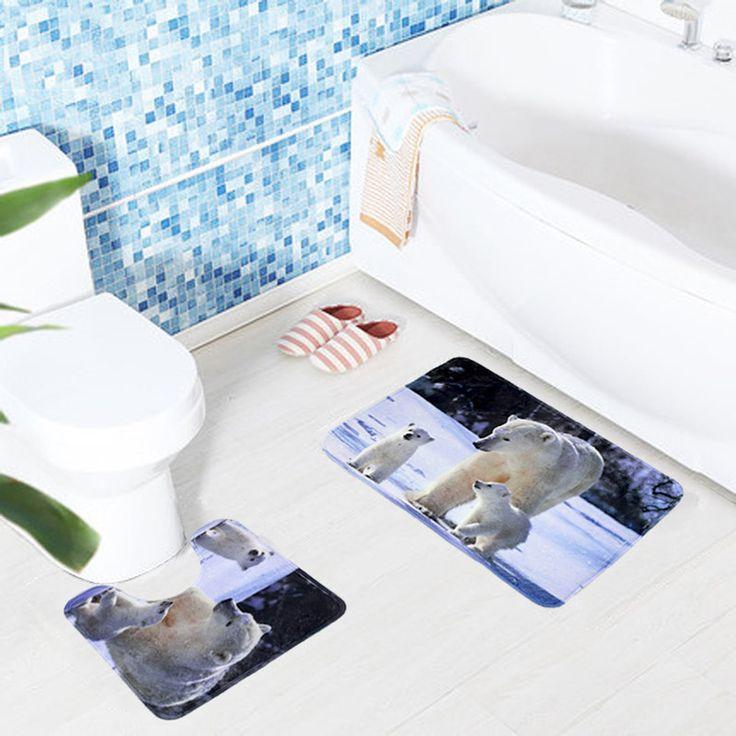 2pcs/set 45*75cm+45*45cm Polyester Fabric Toilet Rug For Bathroom Mat Anti-Slip High Quality Modern Toilet Carpet
