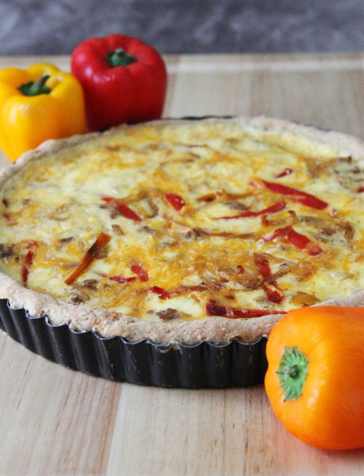Love and Confections: Sausage, Pepper and Caramelized Onion Quiche for #BrunchWeek