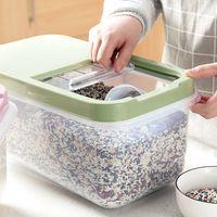 A prueba de humedad grande olla arrocera cocina caja de almacenamiento de barriles de barriles de control de plagas de harina de arroz