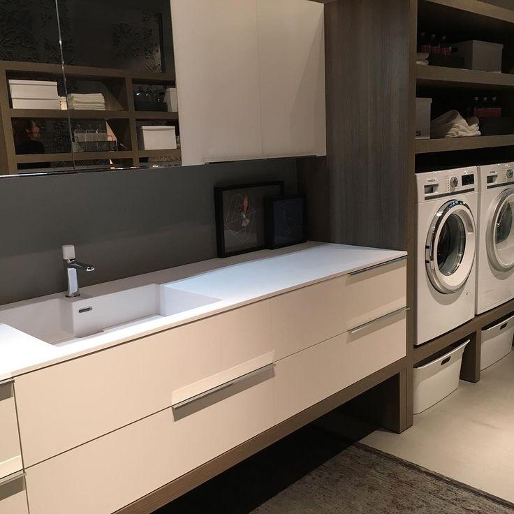 La zona #lavanderia di @_ideagroup_  è arredata come un #bagno ed è #glamour  ##WEBLOGsaloni #ideagroup  #salonebagno
