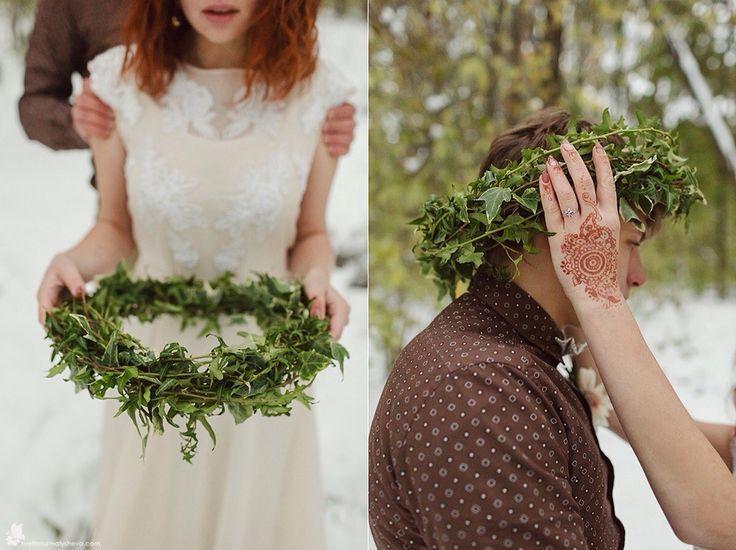 Green wreath. Зелёный венок из плюща. Florist Anny Smirnova