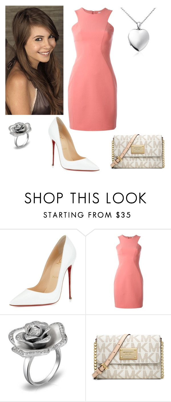 """""""Thea Queen"""" by charmedgreys ❤ liked on Polyvore featuring Christian Louboutin, Versace, MICHAEL Michael Kors and Blue Nile"""