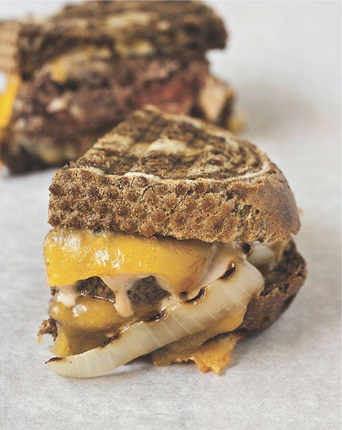 Cheeseburger Patty Melt - I might go so far as to say that a cheeseburger patty melt is even better than a regular cheeseburger.